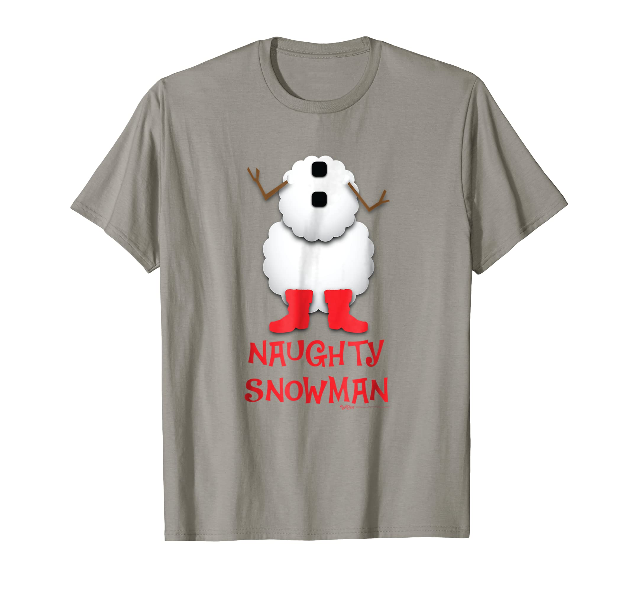 Naughty Snowman Costume Funny Christmas T Shirt-SFL