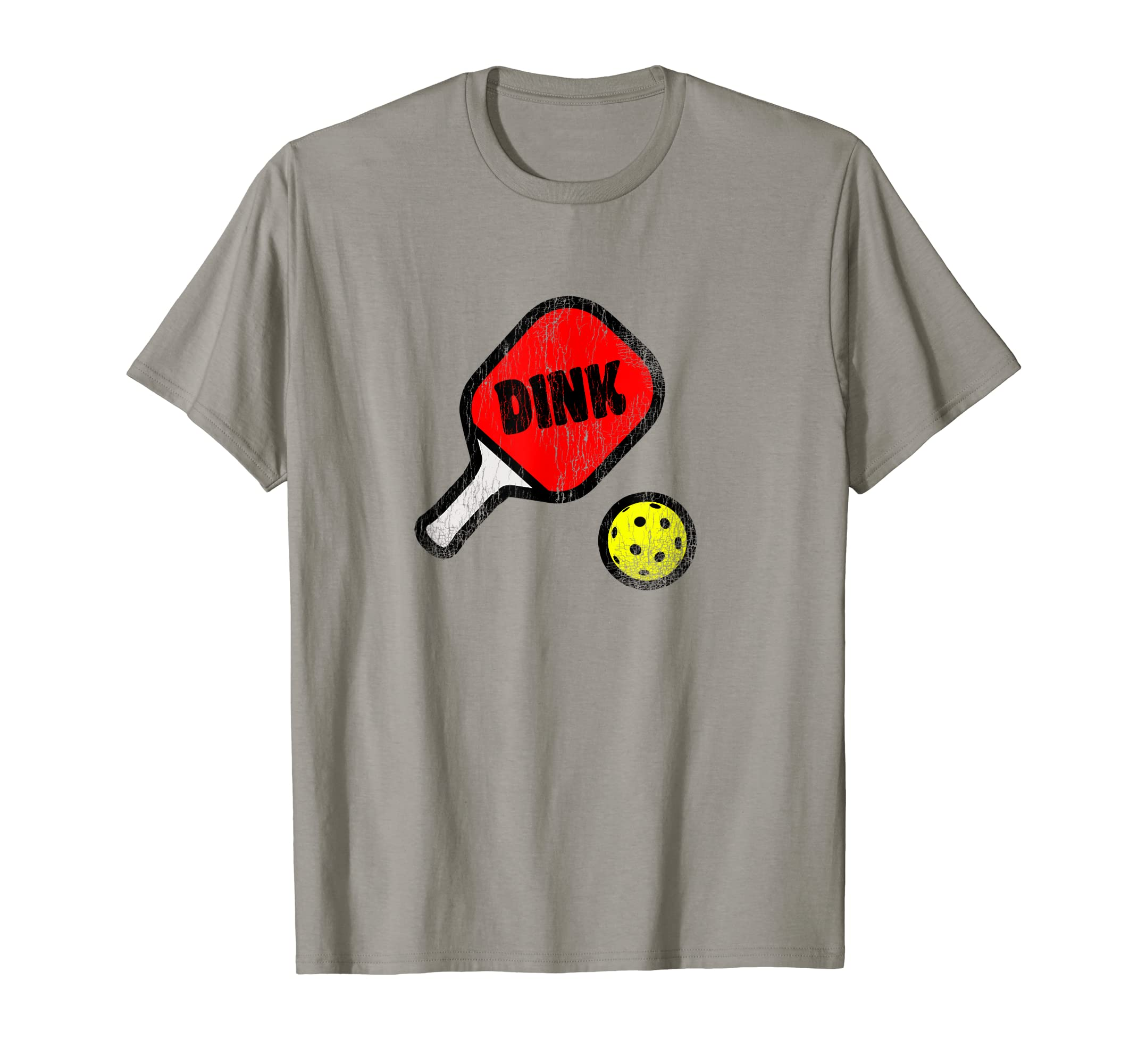 Amazon.com: Pickleball t-shirt Retro Style Dink with Paddle and Ball: Clothing