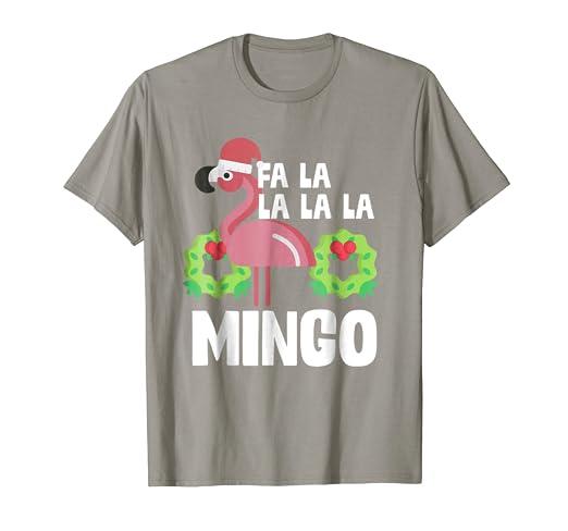 609f97bd1 Image Unavailable. Image not available for. Color: Fa La La Mingo Santa Christmas  Flamingo Shirt