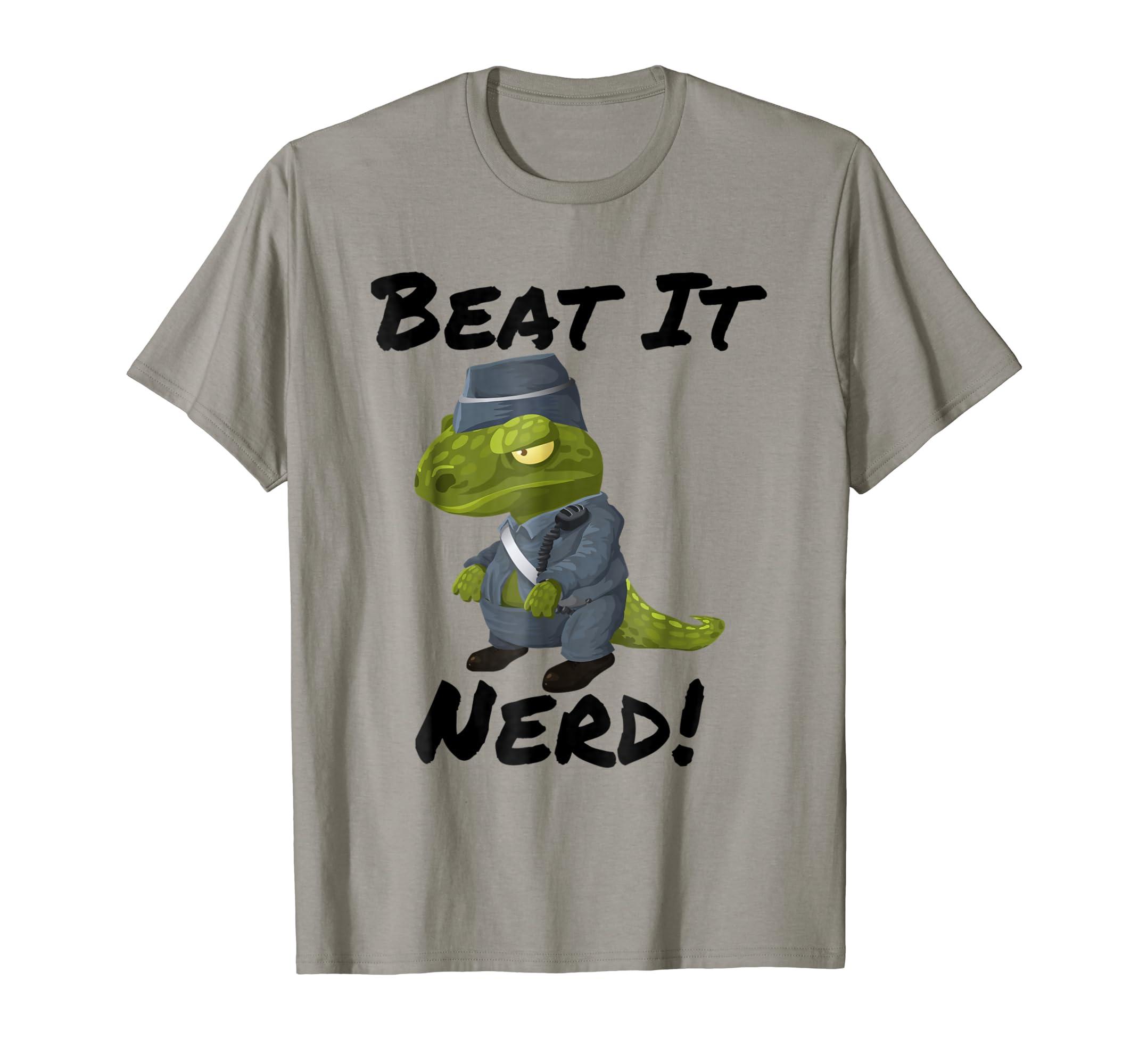 Beat It Nerd! Dinosaur T-Shirt-mt