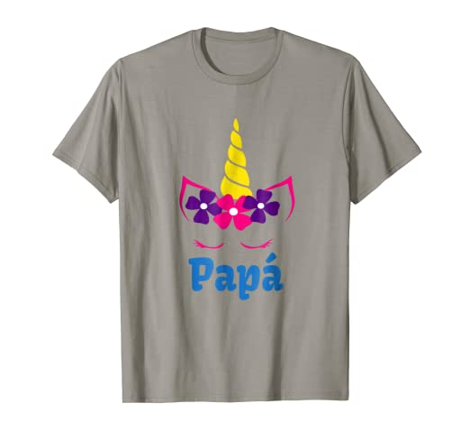 Mens Camisa de unicornio para papa de cumpleanos