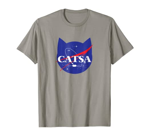 ee171534d Image Unavailable. Image not available for. Color: CATSA Cat Universe Space  T-shirt