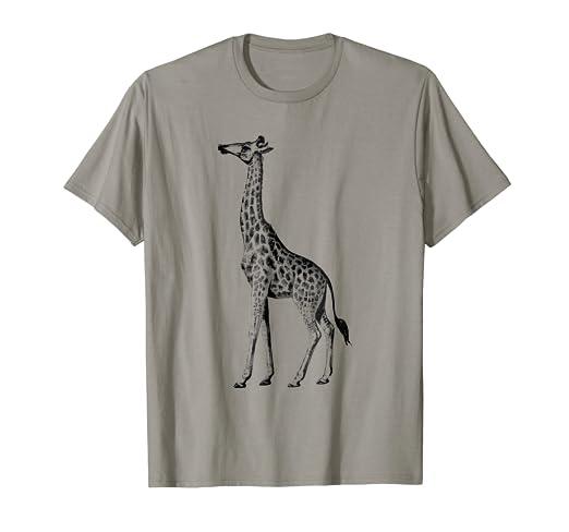 b334d837 Amazon.com: Cute Giraffe Print T-Shirt: Clothing
