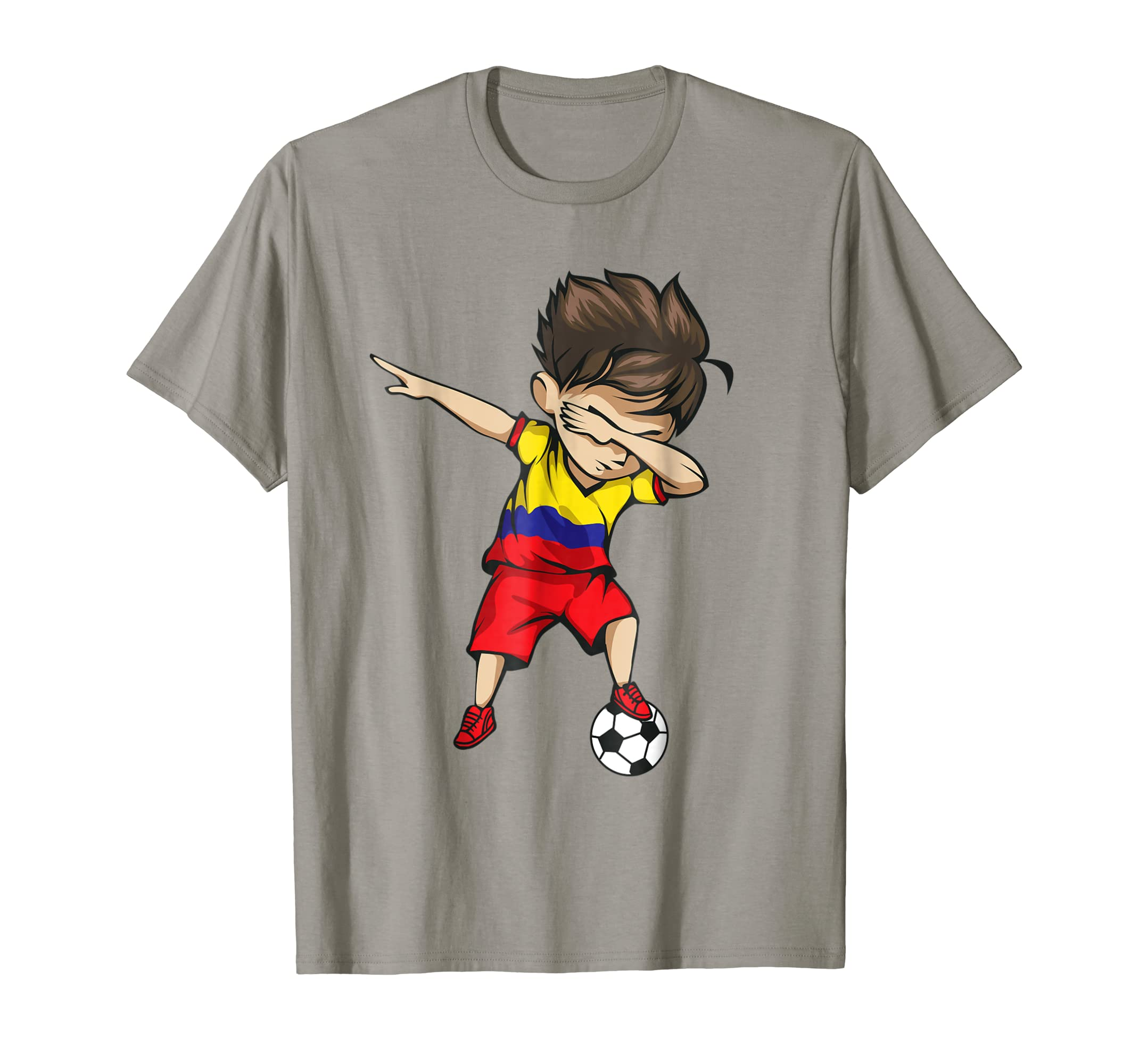 e54e77ea2 ... Dabbing Soccer Boy Colombia Jersey Shirt Colombian Football-prm ...