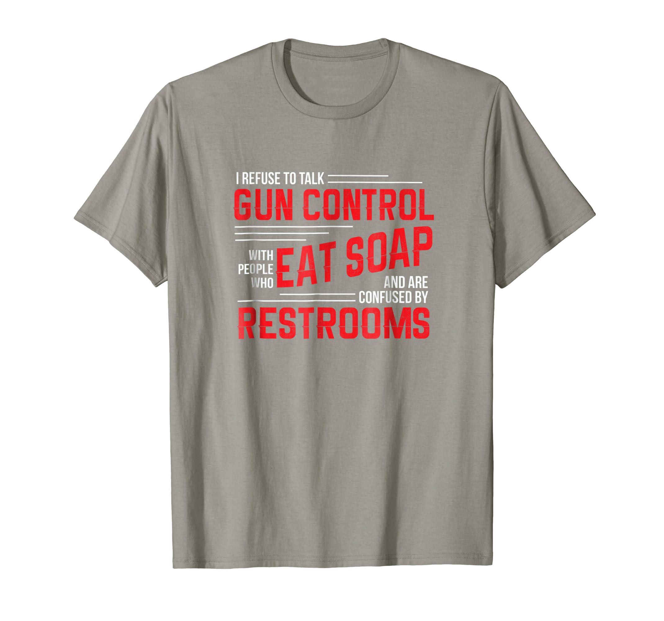 0cb1a85c4 Amazon.com: Gun Control T Shirt Gun Rights Pro Gun Debate 2nd Amendment:  Clothing