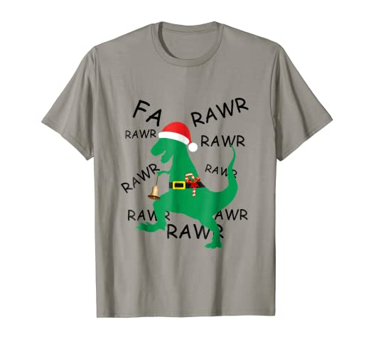 964b87e5f Image Unavailable. Image not available for. Color: Funny Christmas Dinosaur  T Rex Gift Shirt for Boys ...