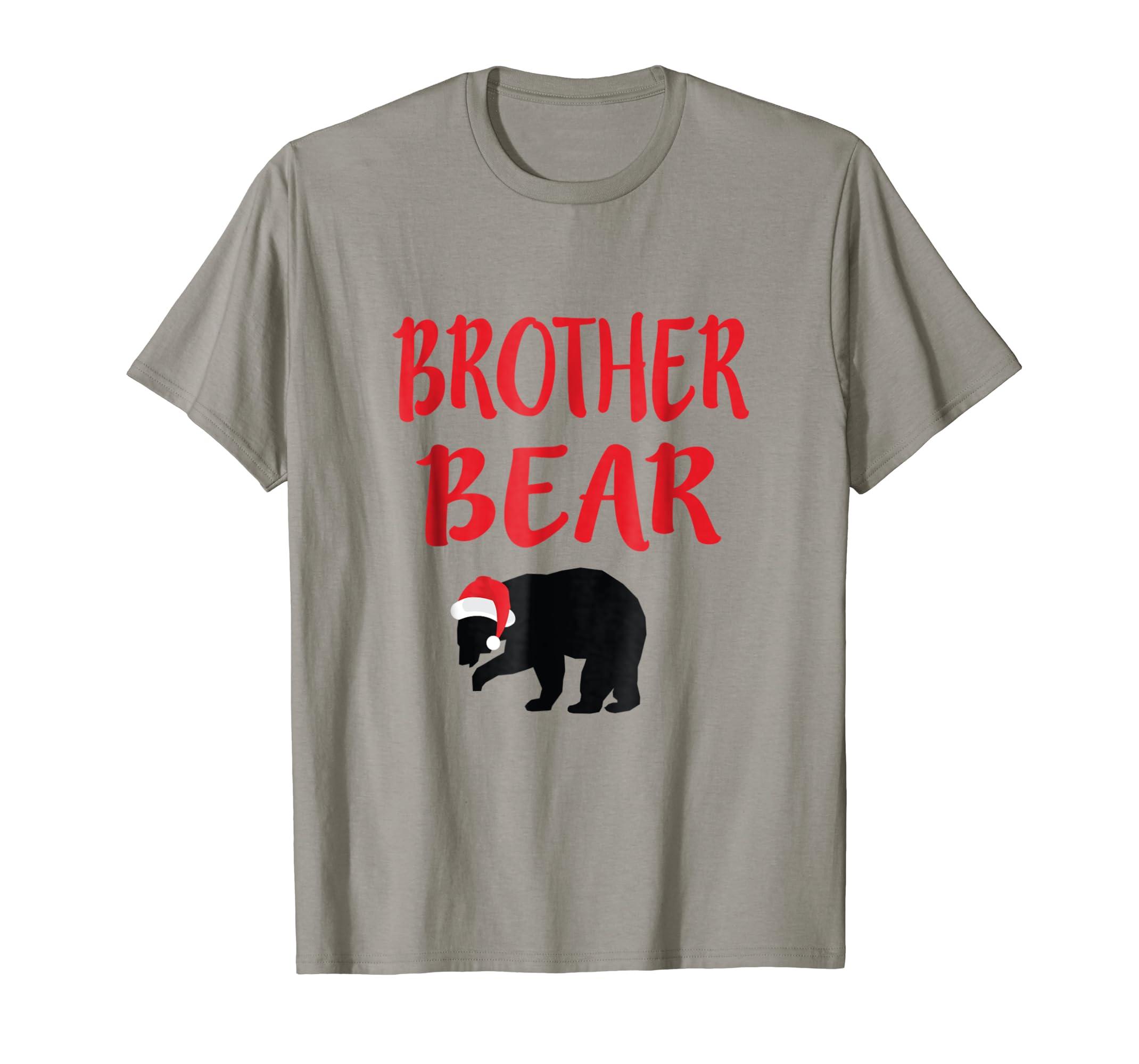 60d4a4633b Amazon.com  Brother Bear Christmas Santa Family Matching Pajamas T-Shirt   Clothing