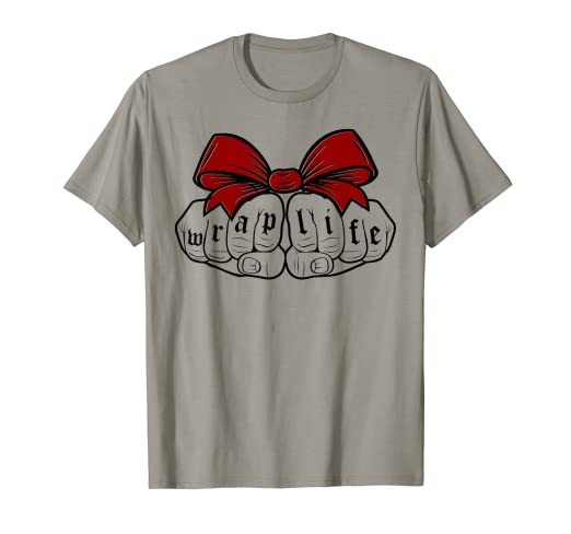 7c81ea47 Image Unavailable. Image not available for. Color: Wrap Life Gangsta  Wrapper Funny Christmas Shirt Women Men