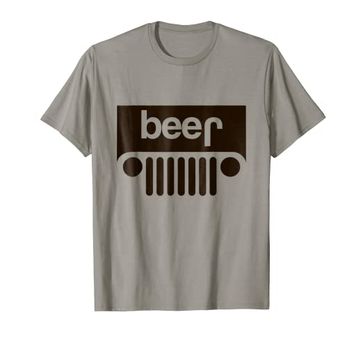 c89997896 Image Unavailable. Image not available for. Color: GummoCloth : Jeep Beer T- Shirt ...