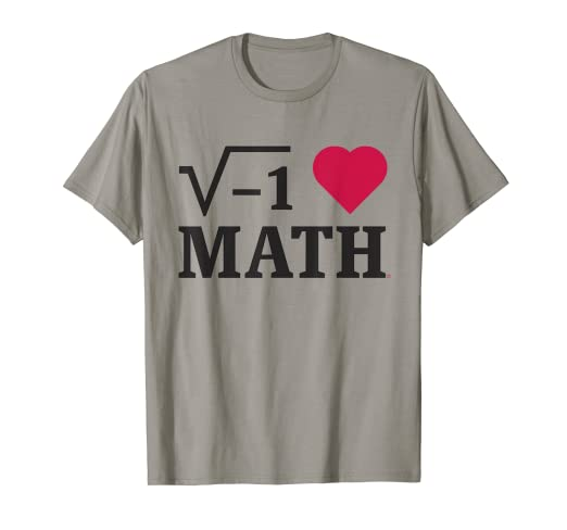 716ed60e Image Unavailable. Image not available for. Color: Math Shirt - I Love Math  - Math tee shirt