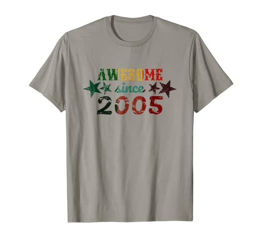 Image Unavailable Not Available For Color Awesome Since 2005 13 Year Old Birthday Present Shirt
