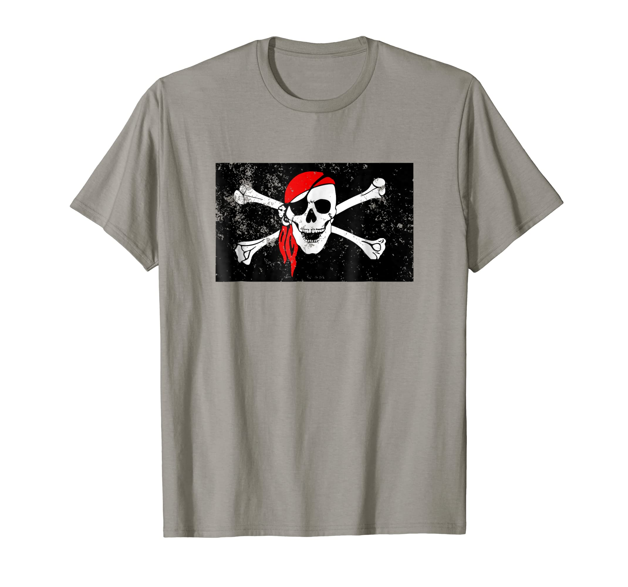 Spooky Pirate Skull and Crossbones T-shirt Halloween-mt