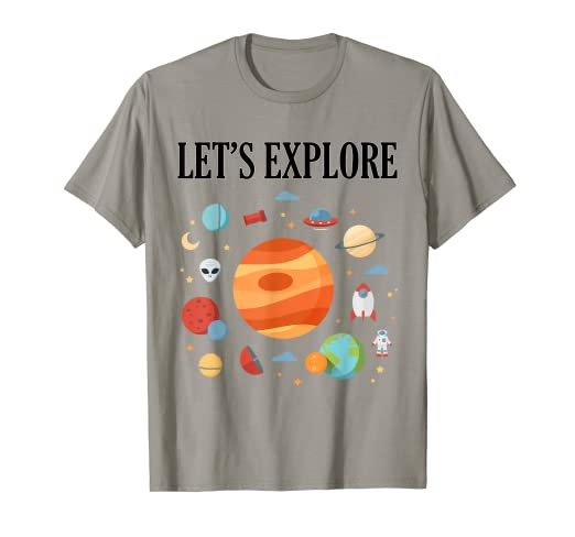 0530277a Image Unavailable. Image not available for. Color: Space themed t-shirts ...