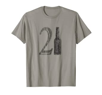 Amazon 21st Birthday 21 Years Old Beer Drinking Shirt Clothing