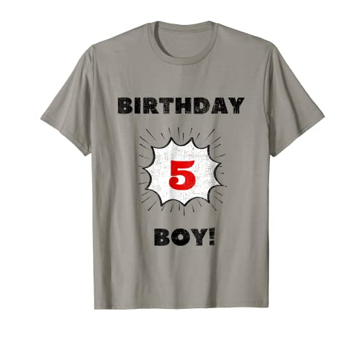 Image Unavailable Not Available For Color Kids Birthday Boy Five Year Old T Shirt