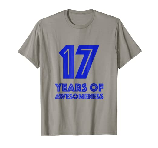 Image Unavailable Not Available For Color 17th Birthday Shirt Gift Boys Age 17 Seventeen Year Old Boy