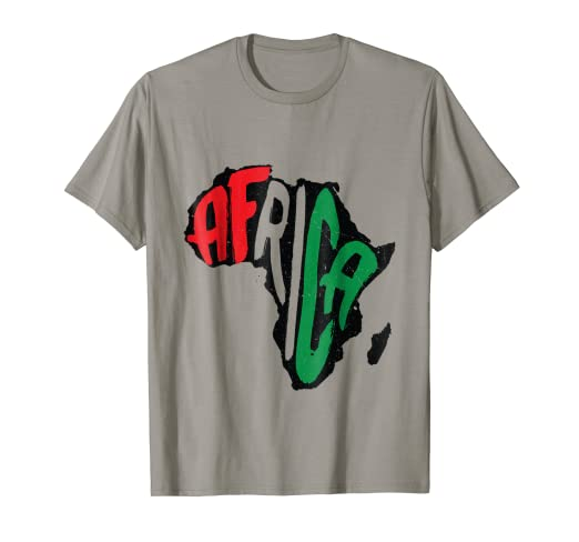 Amazon com: Outline Africa Continent Unity Pan Africa T-Shirt: Clothing
