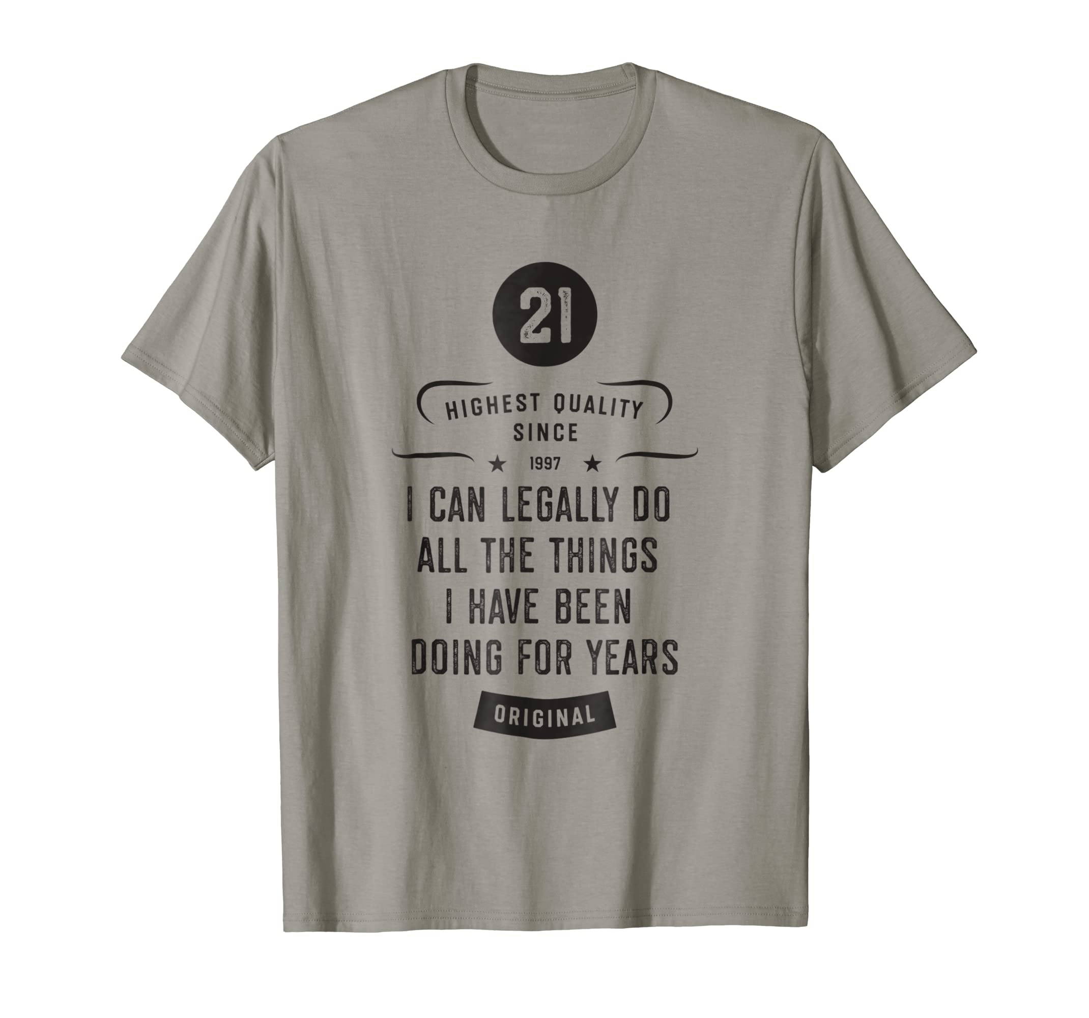 Amazon Funny 21st Birthday Shirt