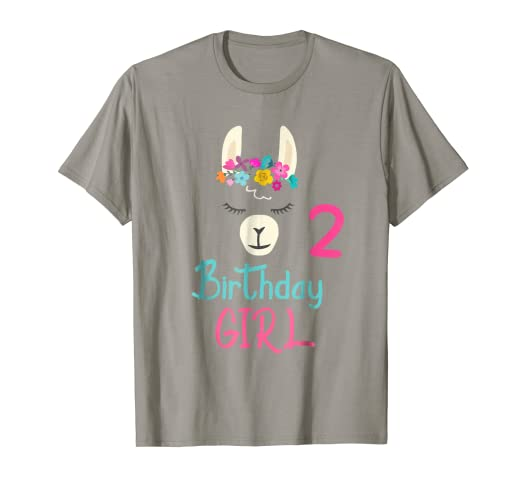 Amazon 2nd Birthday Girl LLama Shirt 2 Years Old Gift