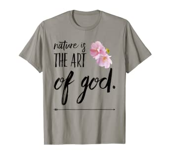 Amazoncom Nature Is The Art Of God Cherry Blossom Clothing