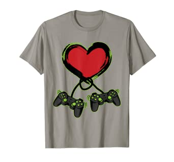 3c44ef73 Image Unavailable. Image not available for. Color: Video Gamer Heart  Controller Valentine's Day Shirt Kids Boys. Roll over image to ...