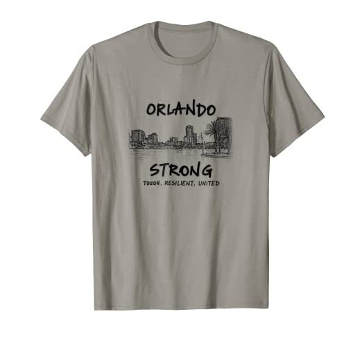 4b90e42975d Image Unavailable. Image not available for. Color  Orlando Strong Florida  Skyline Tough Resilient T Shirt