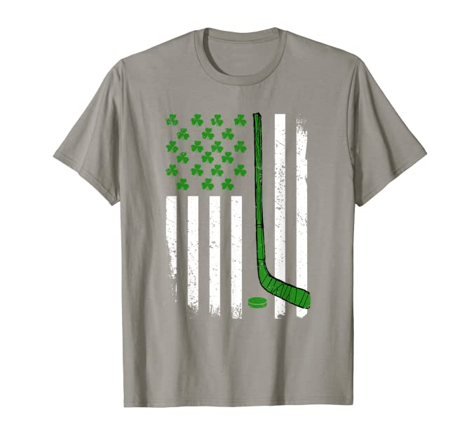 American Flag Tee St Patricks Day Hockey Stick Shirts Gift