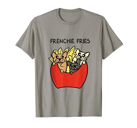 807bee42 Amazon.com: Chibi Frenchie Fries With French Bulldog Puppies Shirt ...