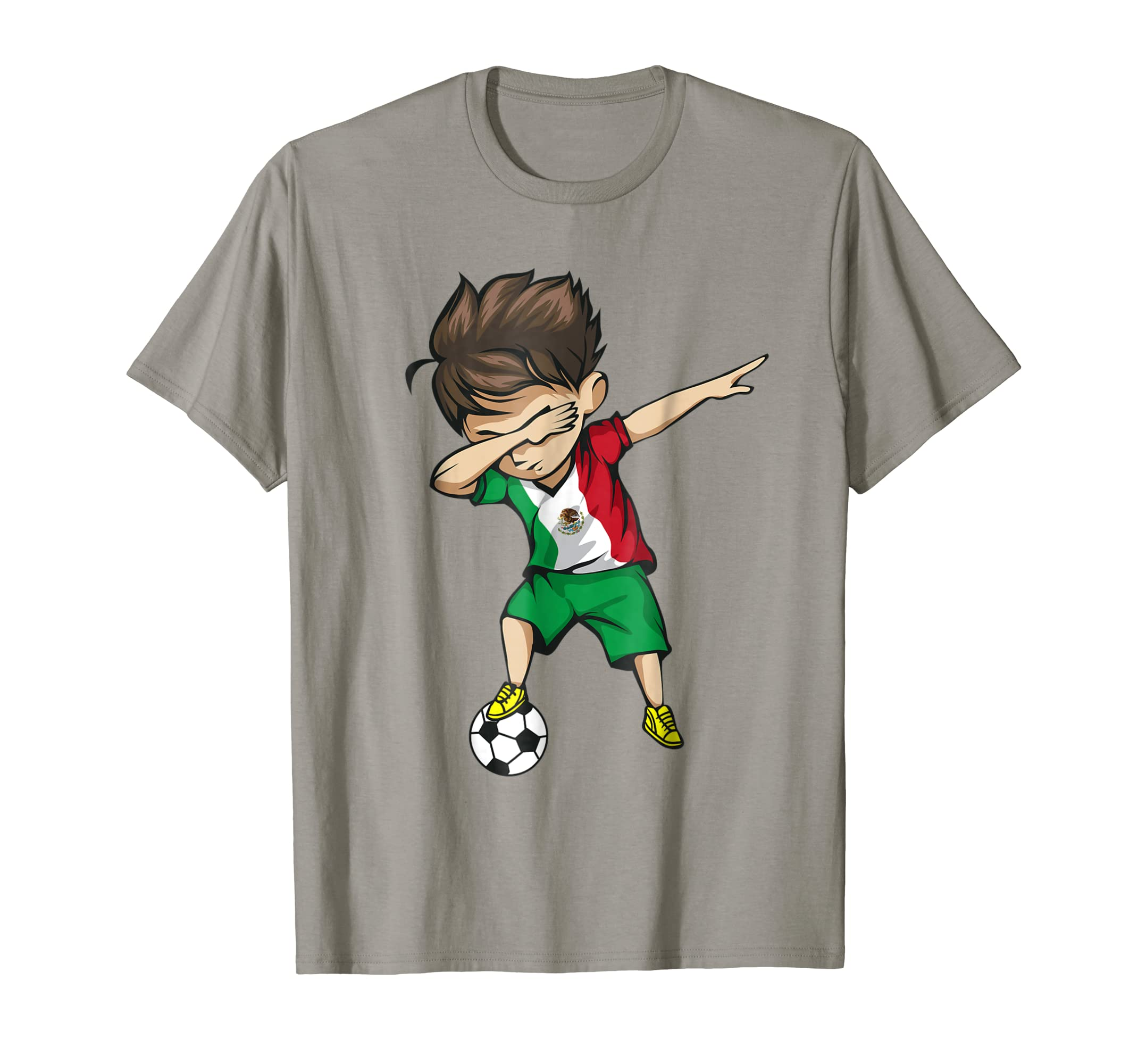 Dabbing Soccer Boy Mexico Jersey Shirt - Mexican Football-alottee gift