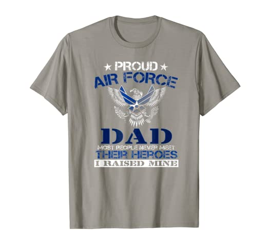 2c9363e8 Image Unavailable. Image not available for. Color: Proud Air Force Dad  Funny T Shirt- ...