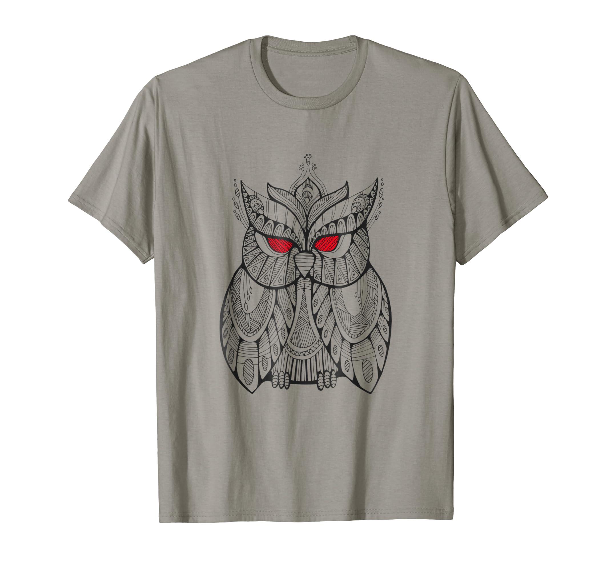 feb7eaef69 Crazy Cool Owl Hand Drawn Shirt Design-AZP - anzpets