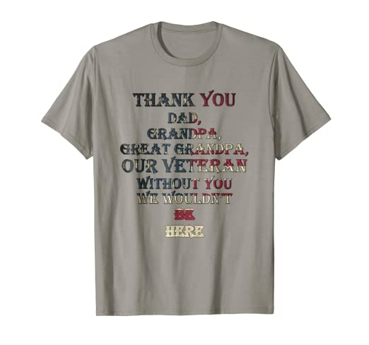 0be08d5f Image Unavailable. Image not available for. Color: Mens Veteran Thank You  Dad ...