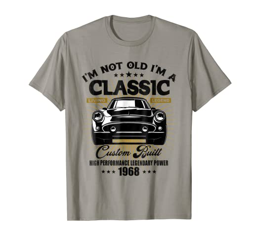 04d3d50b5 Image Unavailable. Image not available for. Color: Vintage Classic 1968  Great 50th Birthday Retro Gift T-Shirt
