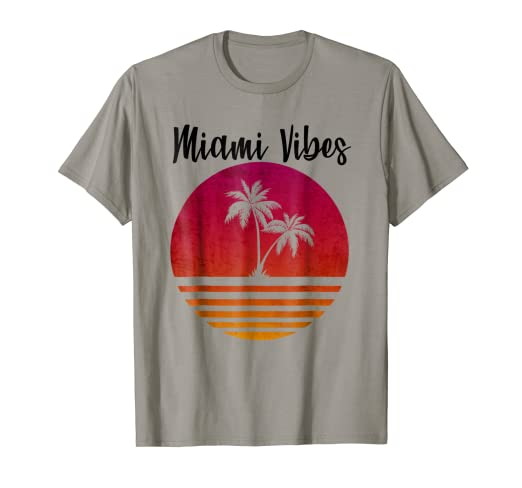 0f59c4b848 Amazon.com: Retro 80's Outrun Vintage Palm Tree T-shirt: Clothing