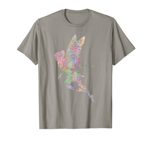 5a51731a4 Image Unavailable. Image not available for. Color: Cute Fairy Girl Glitter T  Shirt Fairies Rainbow ...