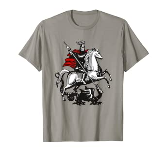 Amazon Saint George And Dragon Medieval Knight Heraldic T