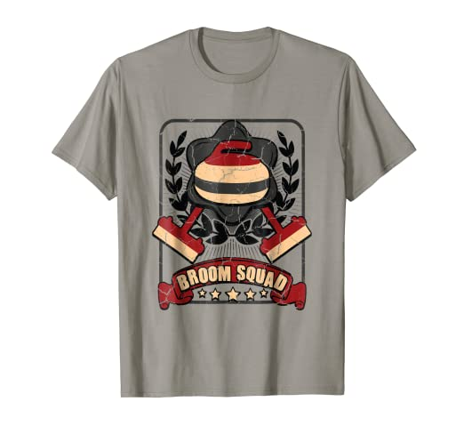 33f4f6ba1 Image Unavailable. Image not available for. Color: Broom Squad Curling T-Shirt  Funny ...