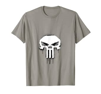 255afad4b Image Unavailable. Image not available for. Color: Marvel The Punisher  Skull Logo Dripping Spray Paint T-Shirt