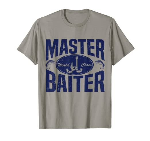 43cc46c9 Image Unavailable. Image not available for. Color: World Class Master  Baiter Fishing Bait T-Shirt