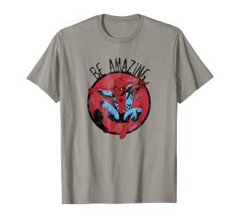 fa9ee0d72a8 Image Unavailable. Image not available for. Color: Marvel Spider-Man Be Amazing  Distressed Graphic T-Shirt