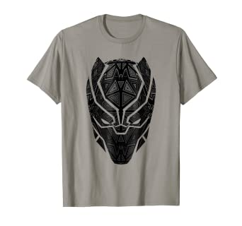 da92022d2962 Image Unavailable. Image not available for. Color  Marvel Black Panther  Geometric Prism Mask T-Shirt