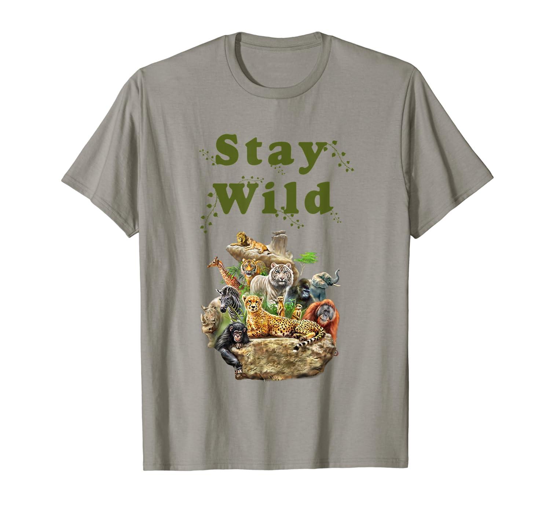 Stay Wild African Animal Jungle Safari T shirt-ANZ