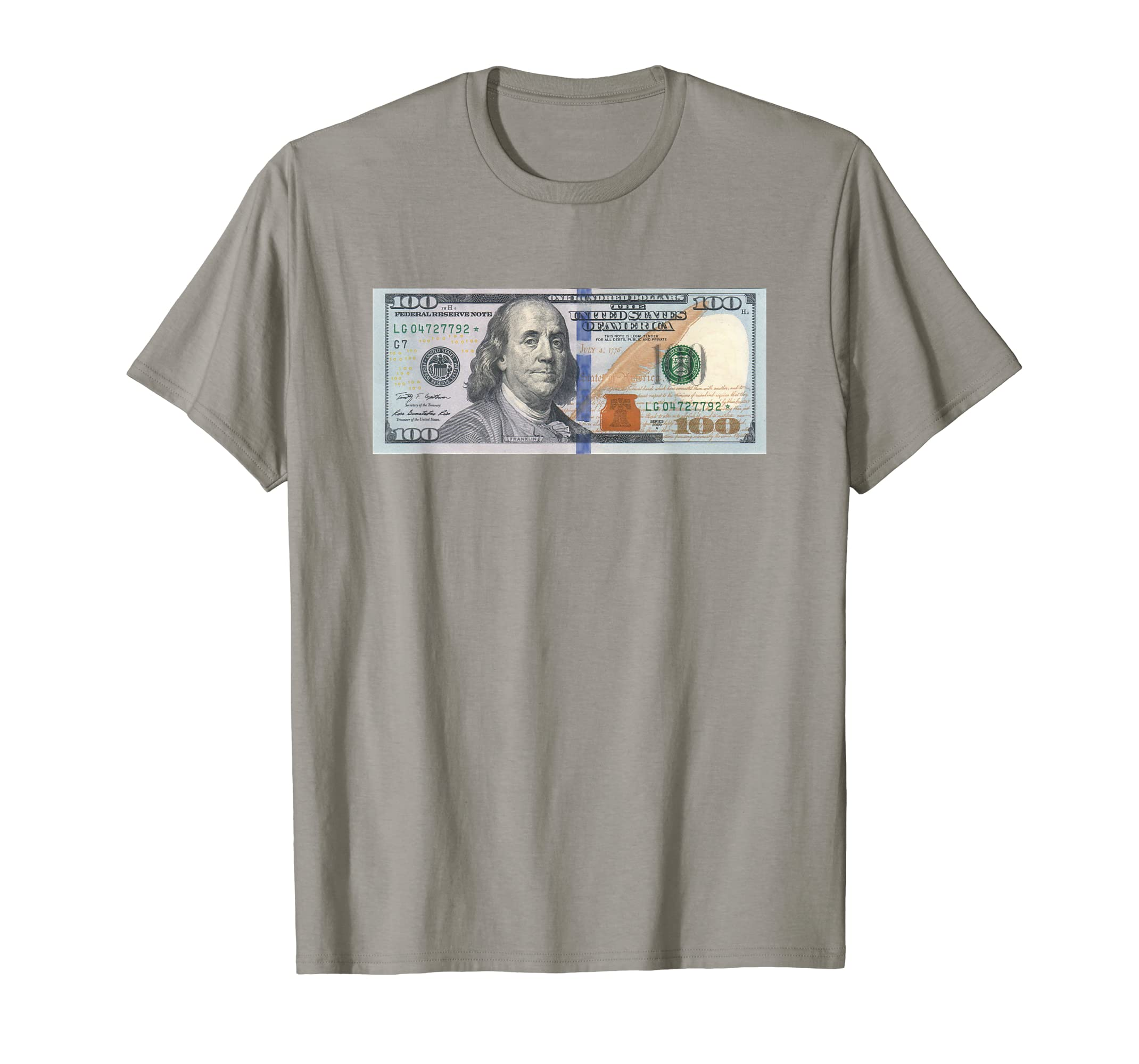 3680ae49 Amazon.com: The Official $100 Dollar Bill Baller T Shirt: Clothing