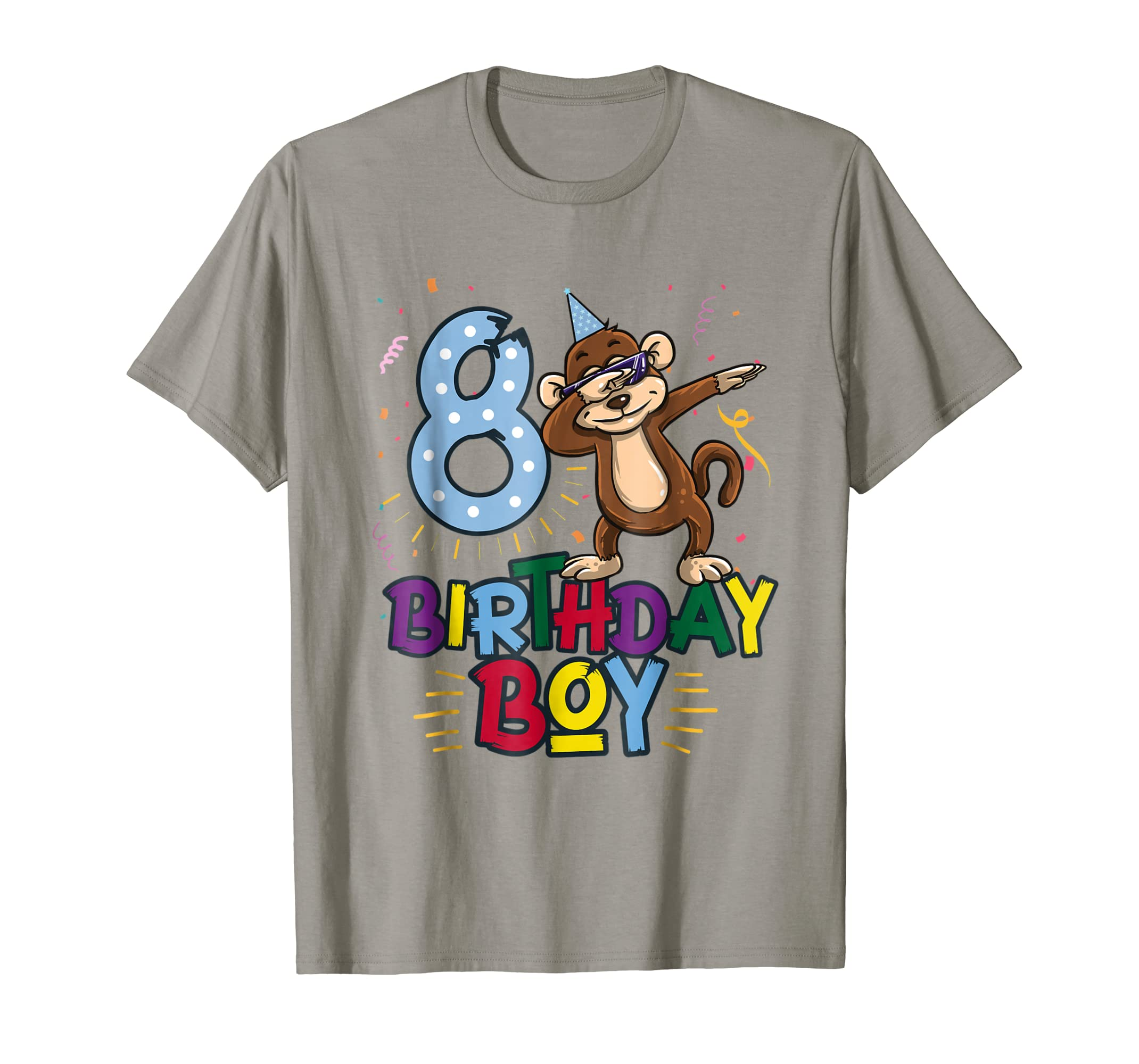 Amazon Funny Birthday Gift 8 Year Old Boy Dabbing Monkey T Shirt Clothing