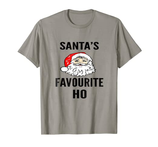 fe5a351e Amazon Com Santa S Favorite Ho Funny Dirty Christmas Gift T Shirt