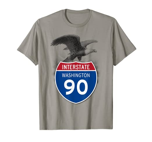 Amazon com: Washington WA I-90 Highway Interstate Shield