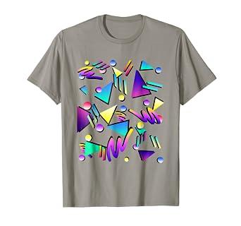 4d7b93479b9e1c Amazon.com: Geometric Pattern 90s T-Shirt | 80s retro t shirt: Clothing