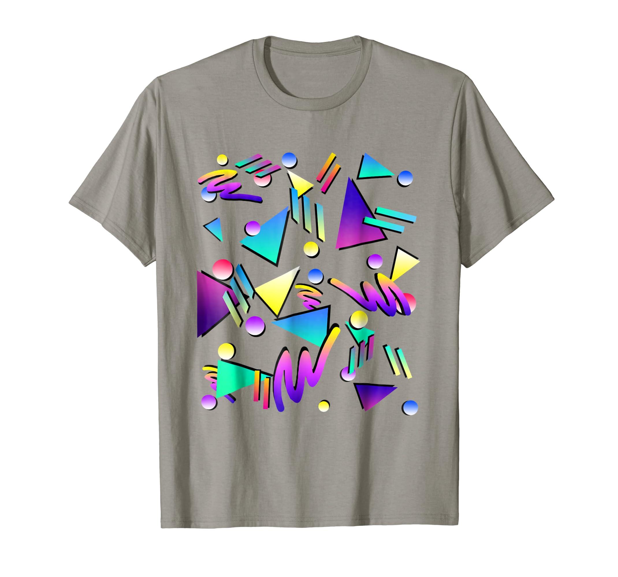 Amazon com geometric pattern 90s t shirt 80s retro t shirt clothing