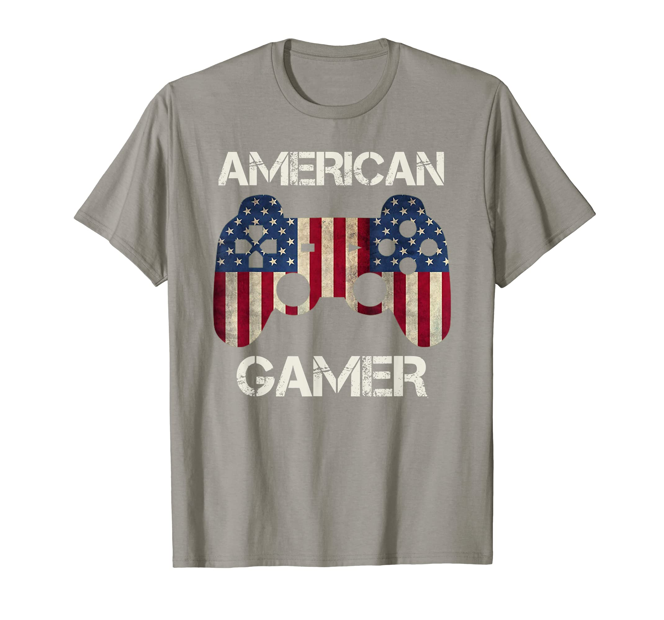4th of July Day Vintage Patriotic Gamer American Flag Gift T-Shirt-ANZ