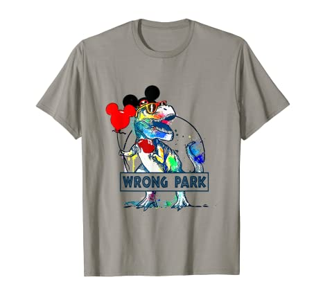 54861ec70 Image Unavailable. Image not available for. Color: Wrong Park T Shirt - Funny  Dinosaur ...
